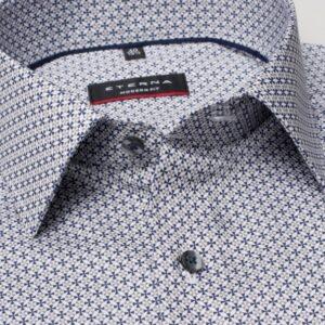 kék mintás modern fit férfi ing