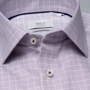bordó modern fit férfi ing