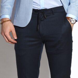 sötétkék elegáns férfi nadrág
