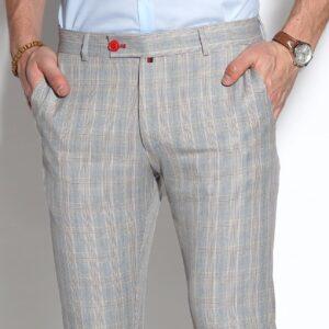 kockás elegáns férfi nadrág