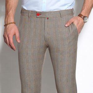 barna kockás férfi nadrág